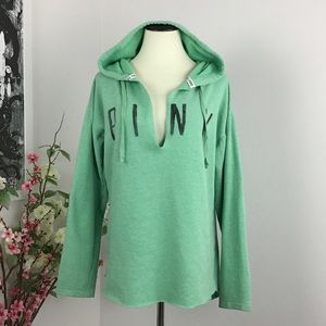 VS PINK Pullover Shirttail Hoodie
